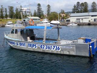 Kiama Fishing charters boat